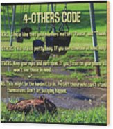 4-others Code Wood Print