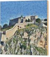 Palamidi Castle Wood Print