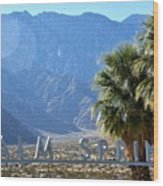 Palm Springs Welcome Wood Print