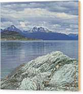 Panoramic View Of Ushuaia, Tierra Del Wood Print