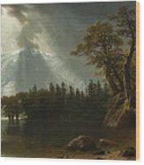 Passing Storm Over The Sierra Nevadas Wood Print