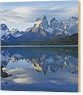 Patagonia Reflection Wood Print