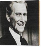 Peter Cushing, Vintage Actor Wood Print