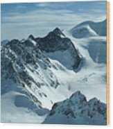 Pitztal Glacier Wood Print