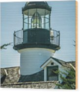 Point Pinos Lighthouse In Monterey California Wood Print