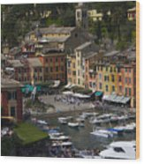 Portofino In The Italian Riviera In Liguria Italy Wood Print