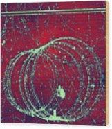 Positron Tracks Wood Print by Omikron