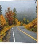 Poster Landscape Wood Print