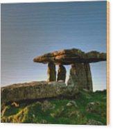 Poulnabrone Dolmen Wood Print