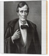 President Lincoln Wood Print