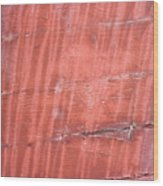 Red Metal  Wood Print