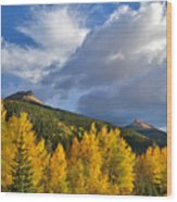 Red Mountain Sunset Wood Print