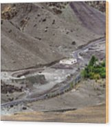 Rocky Landscape Of Leh City Ladakh Jammu And Kashmir India Wood Print