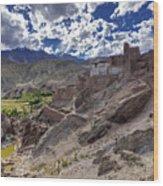 Ruins At Basgo Monastery Leh Ladakh Jammu And Kashmir India Wood Print