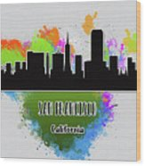 San Francisco Skyline Silhouette Wood Print