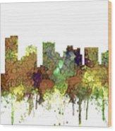Scottsdale Arizona Skyline Wood Print