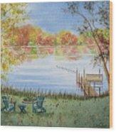 4 Seasons-autumn Wood Print