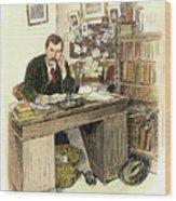 Sir Arthur Conan Doyle Wood Print