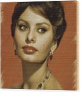Sophia Loren, Vintage Actress Wood Print