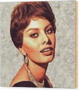Sophia Loren, Vintage Movie Star Wood Print