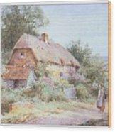 Stannardhenryjohnsylvester Girllookingatacottage-we F018 Henry  Sylvester Stannard Wood Print