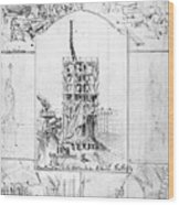 Statue Of Liberty, Paris Wood Print