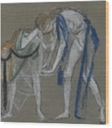 Study Of Two Dancers Wood Print