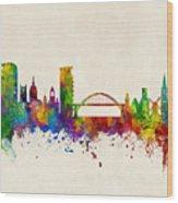 Sunderland England Skyline Wood Print