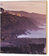 Sunset In The Portuguese Coast Wood Print