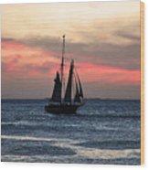 Sunset Key West  Wood Print