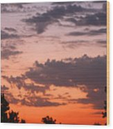 Sunset Moreno Valley Ca Wood Print