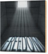 Sunshine Shining In Prison Cell Window Wood Print