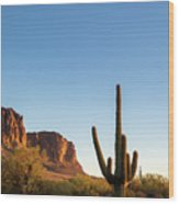 Superstition  Mountains Arizona Wood Print