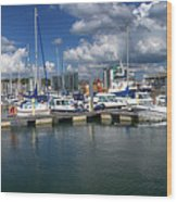 Sutton Harbour Plymouth Wood Print