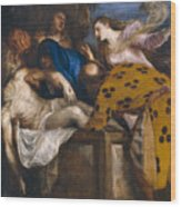 The Burial Of Christ Wood Print