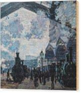 The Gare St Lazare Wood Print