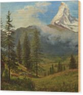 The Matterhorn Wood Print