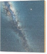 The Milky Way And Mars Wood Print