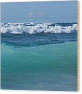 The Blue Sea Wood Print