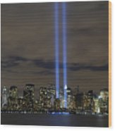 The Tribute In Light Memorial Wood Print by Stocktrek Images