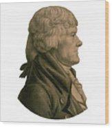Thomas Jefferson Profile Wood Print