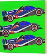 To Peugeot 908s Le Mans 2011 was Uphill Wood Print