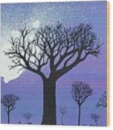Tree Love Wood Print
