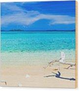 Tropical Beach Malcapuya Wood Print by MotHaiBaPhoto Prints