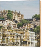 Udaipur City Palace In Rajasthan Wood Print