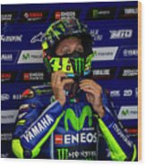 Valentino Rossi The Doctor  Wood Print