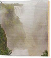 Victoria Falls In Zambia Wood Print
