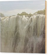 Victoria Falls In Zimbabwe Wood Print