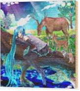 Vocaloid Wood Print
