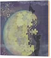 Walk To The Moon Wood Print